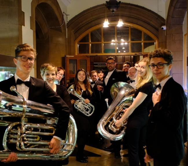 City of Bradford Brass Band –ready to perform at City Hall