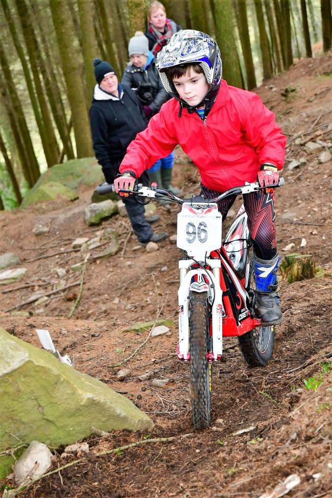 Edward Abram competed in the small wheels class at the Horsforth Motor Club's trial at Greenhow. Picture: Barry Robinson