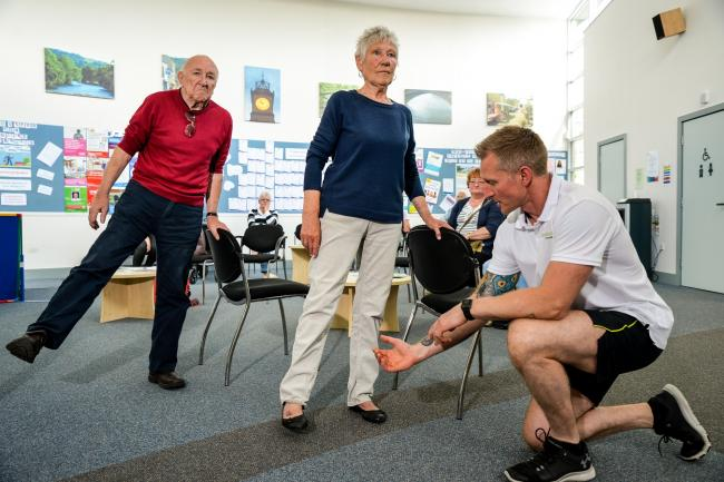 A Balance and Stability class at Westgate Surgery, Otley