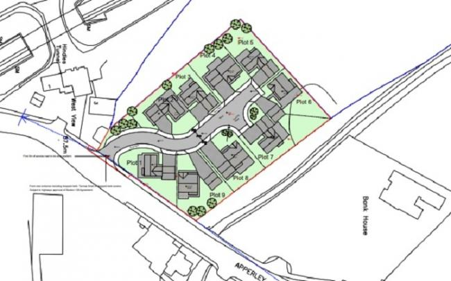 The proposed housing site on Apperley Lane