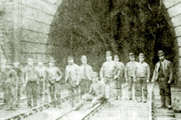 Navvies at Bramhope Tunnel (south portal) circa 1890