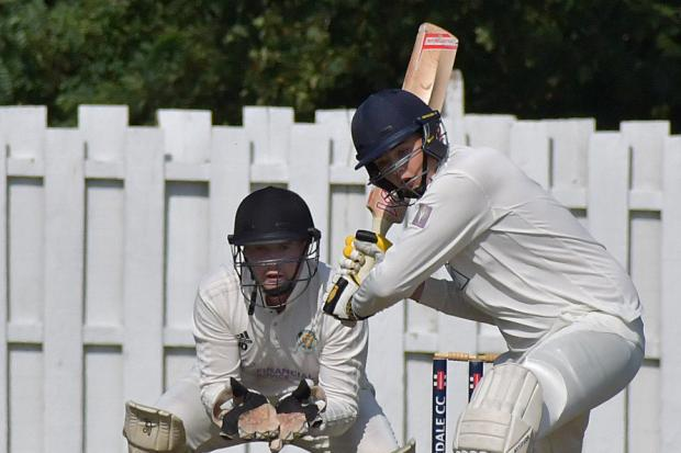 Burley's.Joe Hall, pictured here batting, took 6-45 in the Waddilove Cup semi-final on Sunday.