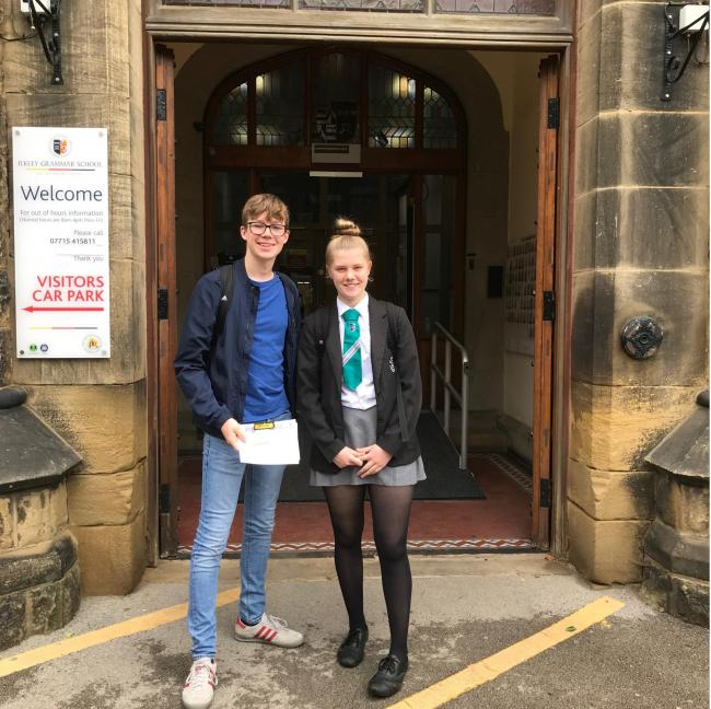 Year 10 pupils Alice Wells and Jack Mountcastle, two of the winners of the inaugural Kindness Awards at Ilkley Grammar School