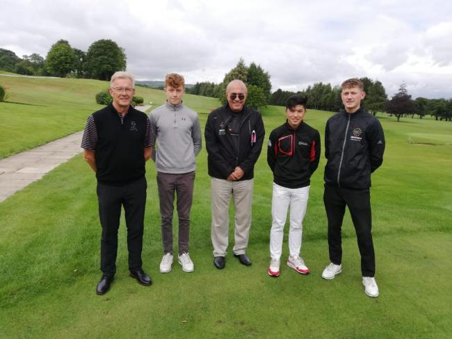 Otley Golf Club again played host to a European Junior Open qualifier. This pictures features Otley men's captain, Ian Lomas and member and former junior captain, Alex Harm