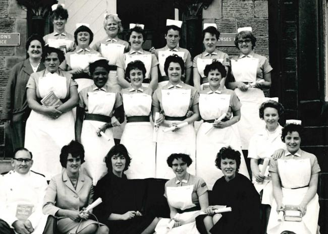 Nurses at Otley Hospital in 1963