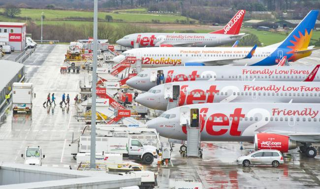 Two Jet2 planes reported laser strikes overnight coming into Leeds Bradford Airport..Picture: Richard Walker / www.imagenorth.net
