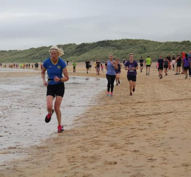 Hilda Coulsey of Ilkley Harriers was the first female over 65 at the Portrush Parkrun