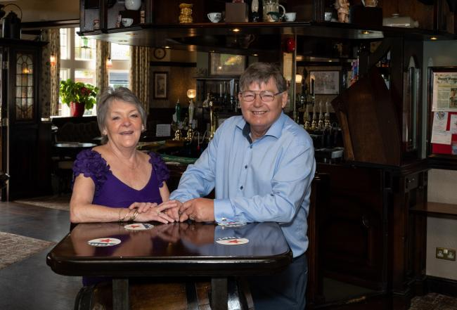 Joe and Irene Morgan who are celebrating 20 years at The Ings Hotel in Guiseley. Photo by Darren Sanderson