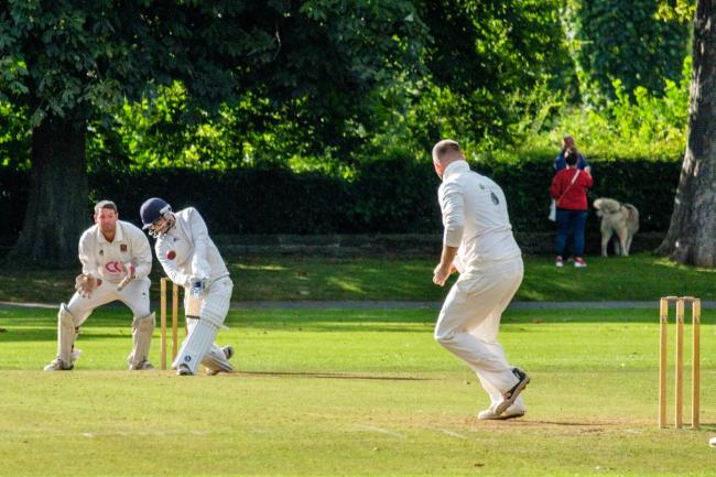 Mussawar Shah hits the winning runs for Saltaire against Horsforth Hall Park in September, ensuring yet another victory in their dominant Aire-Wharfe League Division Two season Picture: Phil Jackson