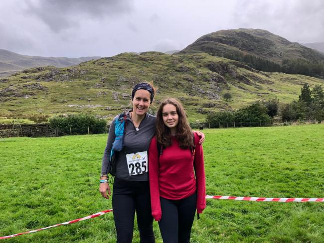 Sarah Fuller and her daughter Erin, 14, competed in the Lake District Mountain Trail