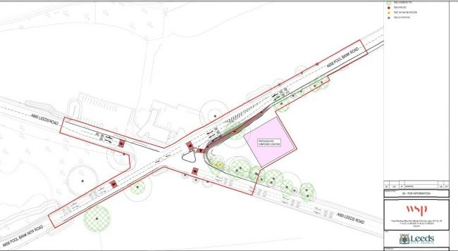 The revised plans for the Dyneley Arms crossroads