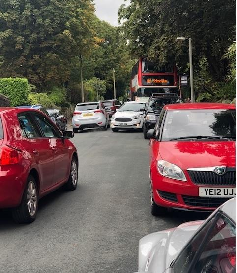 Parking near Ilkley Grammar School since the new scheme was introduced