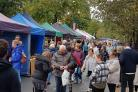 The Real Food Ilkley market on The Grove on Sunday
