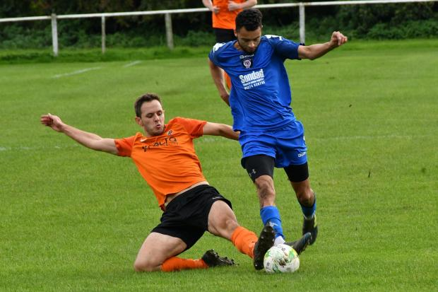 Otley Town's (orange) chairman thinks the FA need to reconsider their ruling of terminating the 2019/20 season