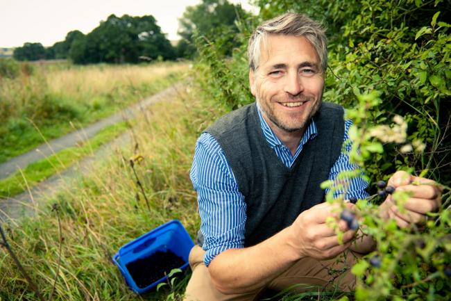 Sloemotion Gin founder Joff Curtoys harvesting ingredients