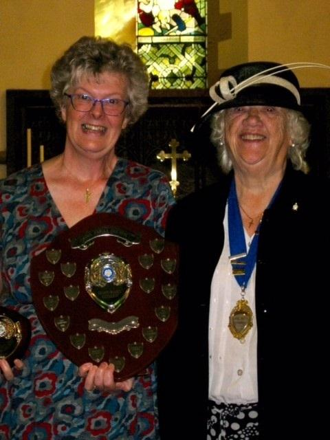 Honorary Citizen Moira Keith with Pool Parish Council Chair Hazel Lee