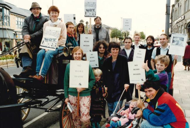 A protest in Ilkley in 1993