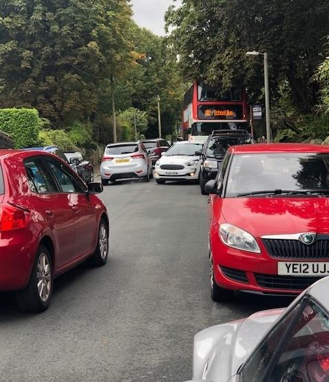 Congestion on Ilkley's busy streets