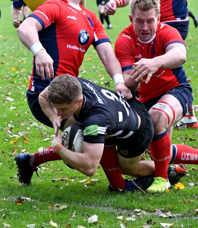 Max Johnson was among the tries for Otley in their win over Loughborough Students
