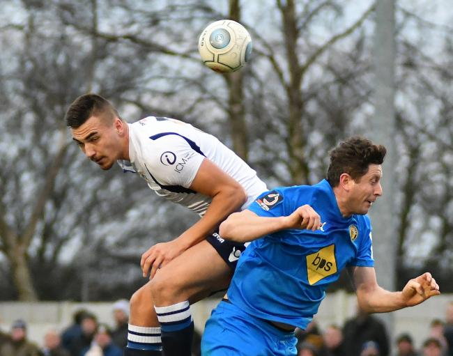 Will Thornton, left, has left Guiseley for Gainsborough Trinity on a one-month loan