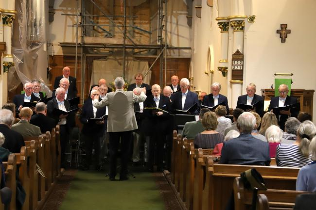 Burley Probus Club's charity concert for Candlelighters