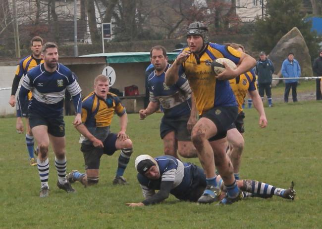 Second row James Falgate scored a try for Yarnbury