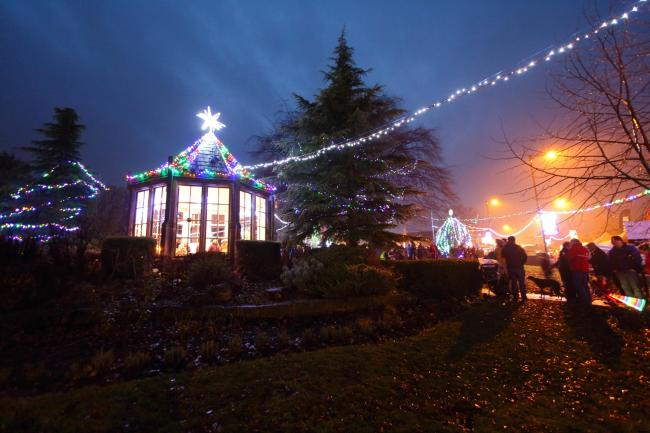 Burley Christmas Lights in 2018. Photo by Gary Bowkett