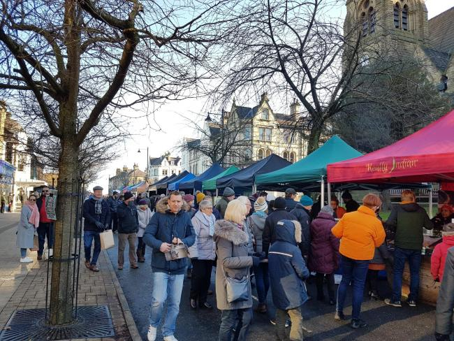 The Real Food Ilkley Market on The Grove on Sunday, December 1