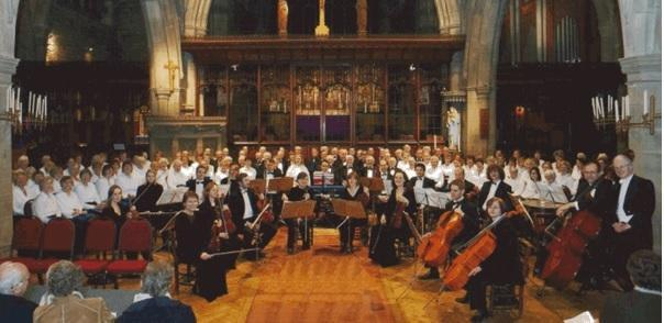 The joint choirs of Otley and Ilkley Choral Societies pictured at a previous performance at St Margaret's Church, Ilkley