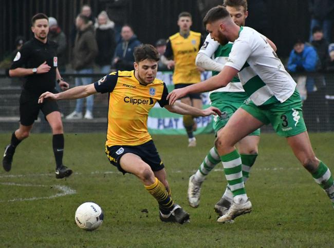 Guiseley fans will be delighted with the news that George Cantrill is staying. Picture: Richard Leach