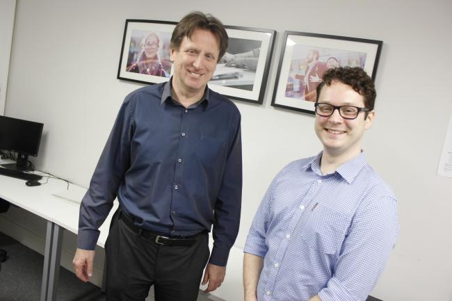 Business start-up adviser Phil Williams and Jareth Anstey