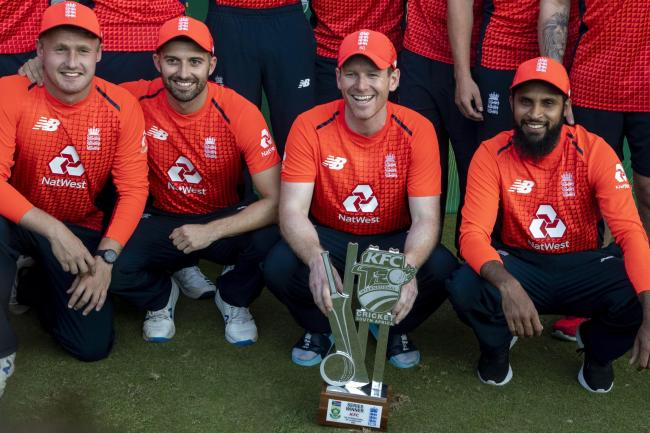 England captain Eoin Morgan, second from right, believes England can get even better