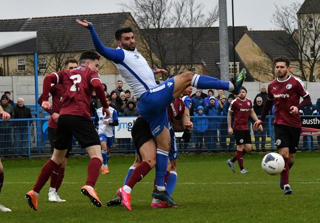 Guiseley's Hamza Bencherif in action against Gateshead last month Picture: Richard Leach