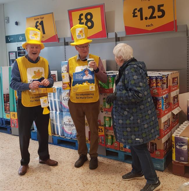 Rotarians George Duncan and David Wilkinson at Morrisons Guiseley
