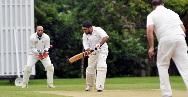 Bradford Moor take a wicket against Thornbury in the Dales Council League. Picture: Richard Leach.
