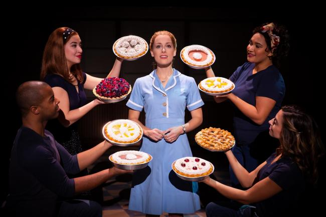 Bailey McCall as Jenna and the company in the US tour of Waitress. Photo: Jeremy Daniel