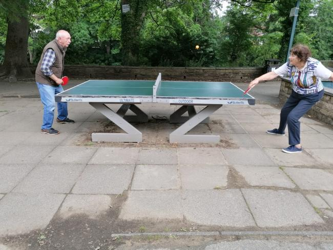 The table tennis table in Ilkley is there to be enjoyed by all