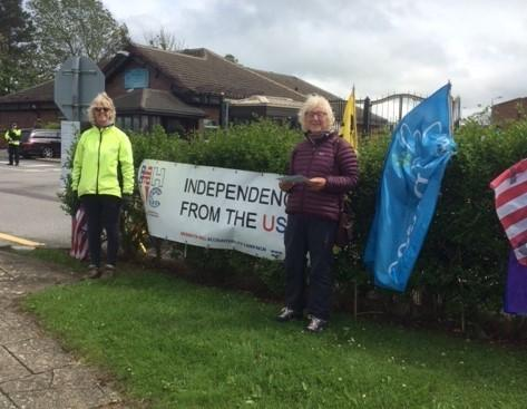 This year's Independence from America Day protest at RAF Menwith Hill