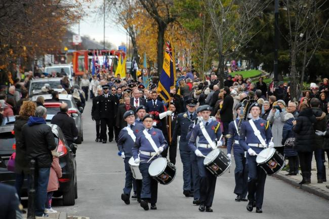 Last year's Remembrance parade in Ilkley