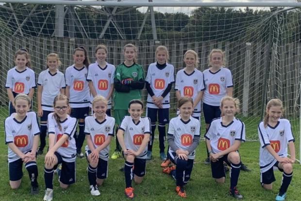Guiseley girls in their new kit
