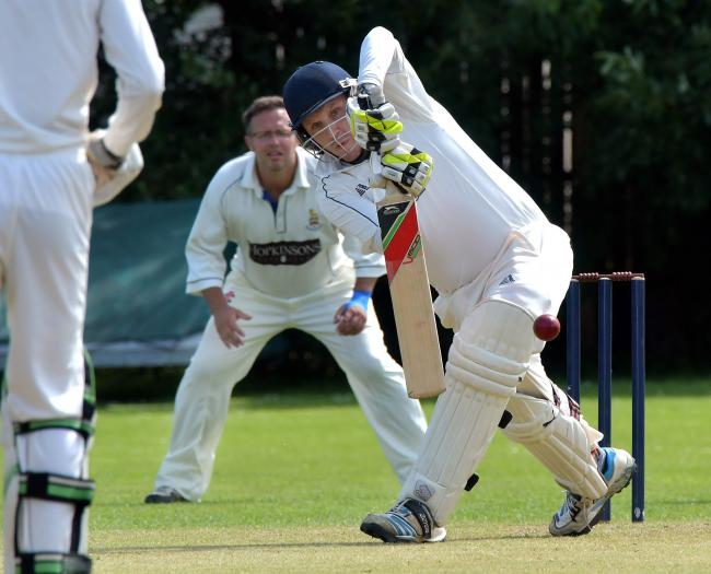 Burley batsman Shane Etherington puts his best foot forward, and will be hoping his side can retain the Waddilove Cup in 2021 Picture: Richard Leach