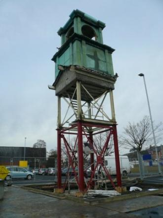 The old Crompton Parkinson clock tower is being restored so that it can be returned to Guiseley.