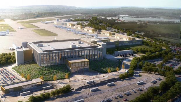 Image shows what Leeds Bradford Airport could look like if fully approved
