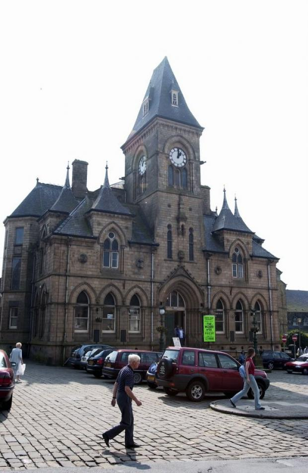 Yeadon Town Hall where Yeadon Amateurs are planning to build a miniature lake