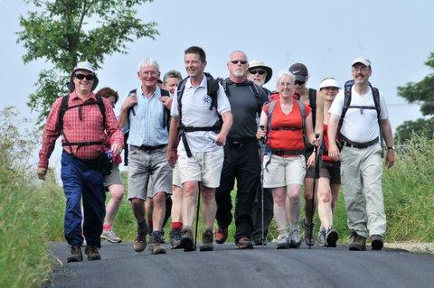 John Sparshatt leads walkers on the new 38-mile Six Dales Trail from Otley to Middleham