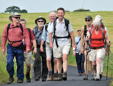 John Sparshatt leads the walkers on a previous Six Dales trail