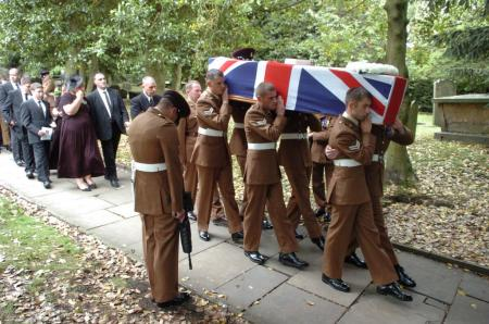 Images from the funeral of Lance Corporal David Ramsden at All Saints Parish Church, Otley.