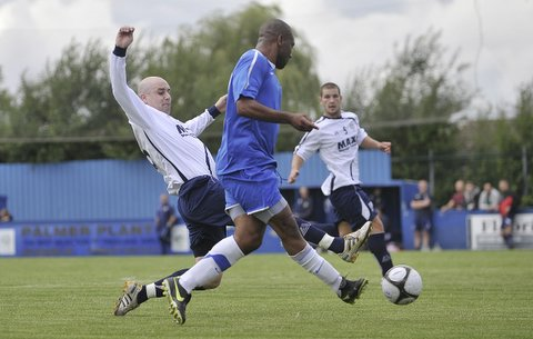 Action from Guiseley's match at Farsley