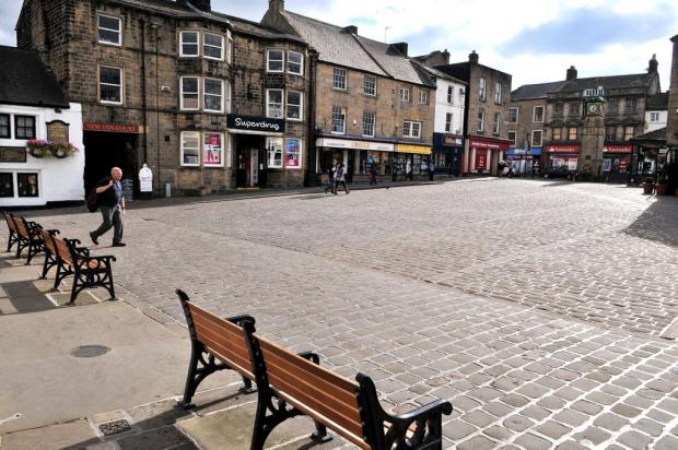 Otley's Market Place, where the plaque will be unveiled