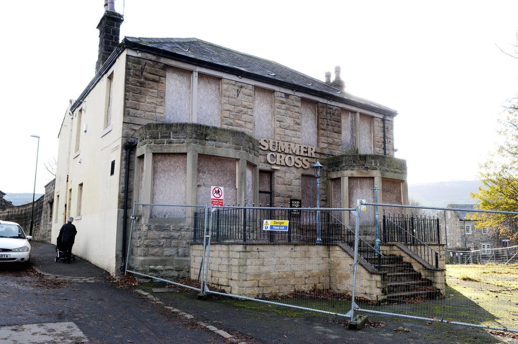The Summercross pub in Otley is boarded up and awaiting redevelopment as a care home.